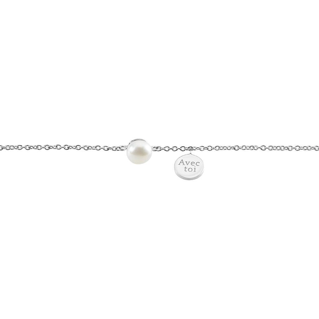 Bracelet Florenceau Argent Blanc Perle De Culture - Bracelets fantaisie Femme | Histoire d'Or