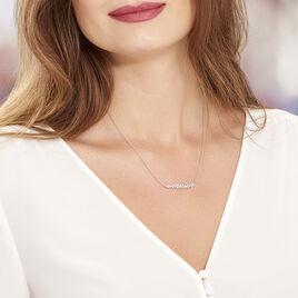 Collier Monique Argent Blanc Oxyde De Zirconium - Colliers fantaisie Femme   Histoire d'Or