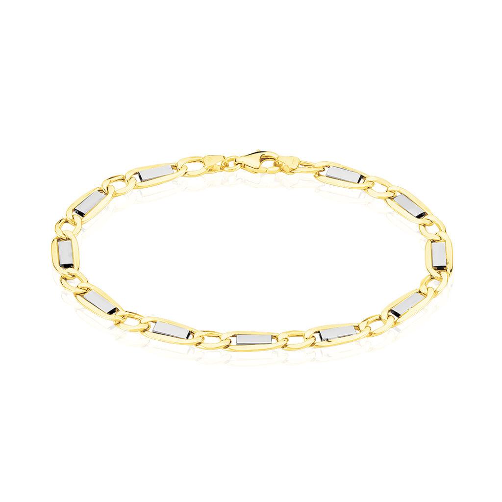 Bracelet Gwenaela Or Bicolore - Bracelets chaîne Homme | Histoire d'Or