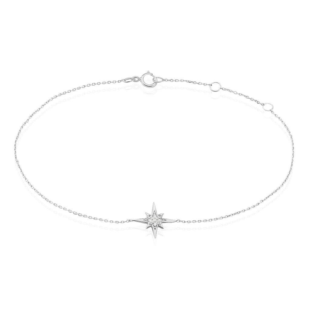Bracelet Aveline Or Blanc Diamant - Bijoux Etoile Femme | Histoire d'Or