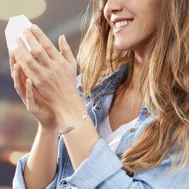 Bracelet Jonc Kalila Argent Blanc Oxyde De Zirconium - Bracelets Plume Femme | Histoire d'Or