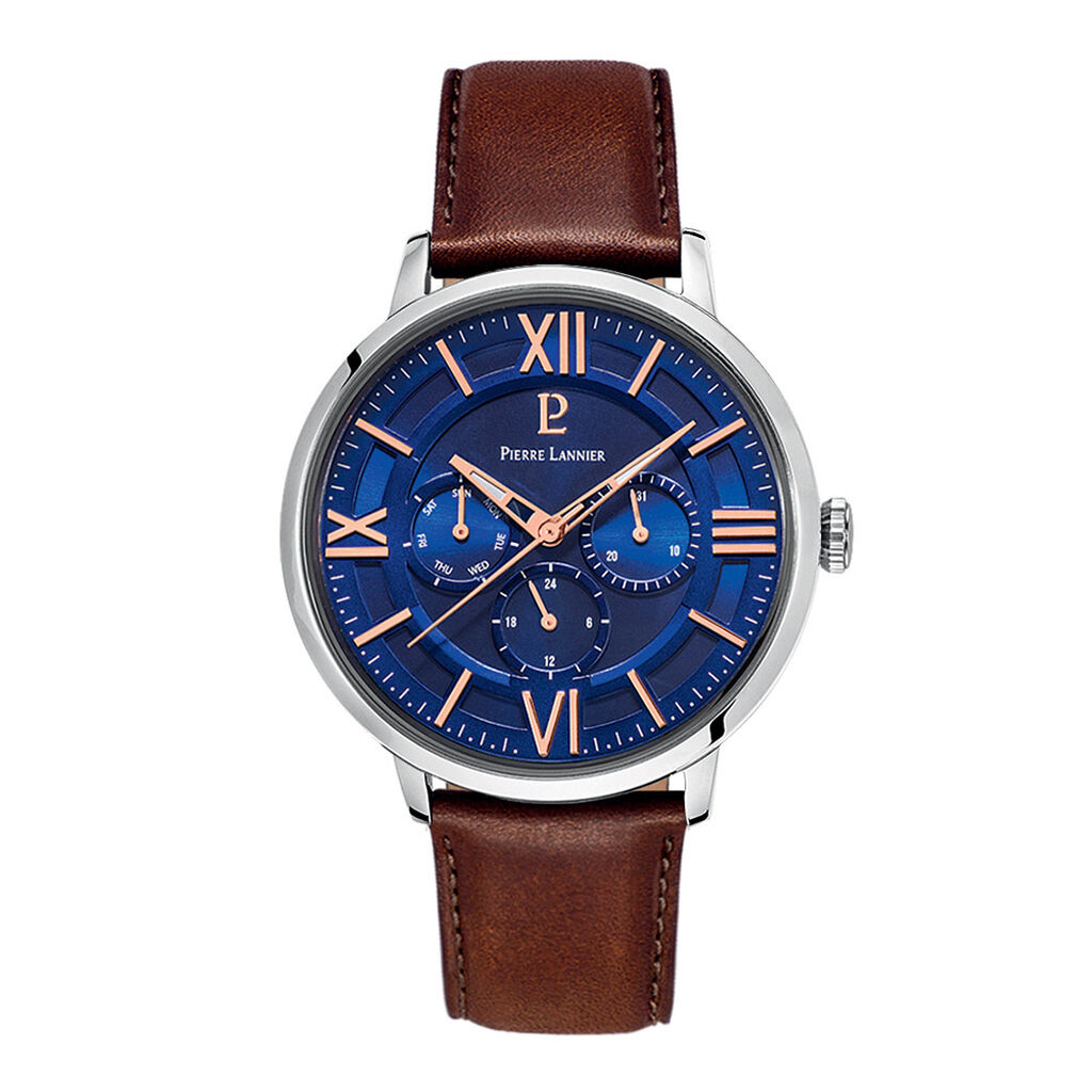 Montre Pierre Lannier Collection Beaucour Bleu