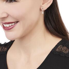Boucles D'oreilles Pendantes Helie Goutte Or Jaune Oxyde De Zirconium - Boucles d'oreilles pendantes Femme   Histoire d'Or