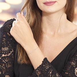 Bracelet Love Love Argent Blanc Oxyde De Zirconium - Bracelets Coeur Femme   Histoire d'Or