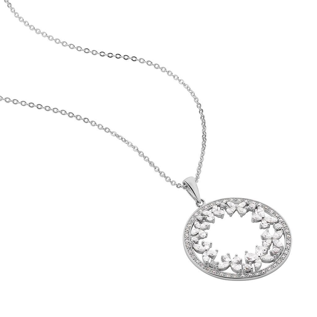 Collier Katucia Argent Blanc Oxyde De Zirconium - Colliers Papillon Femme | Histoire d'Or