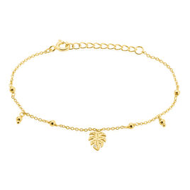 Bracelet Zena Argent Jaune Oxyde De Zirconium - Bracelets Plume Femme | Histoire d'Or