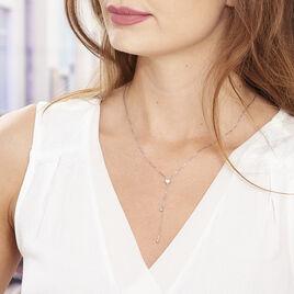 Collier Leandra Argent Blanc - Colliers Coeur Femme | Histoire d'Or