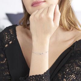 Bracelet Ela Argent Blanc Oxyde De Zirconium - Bracelets fantaisie Femme | Histoire d'Or