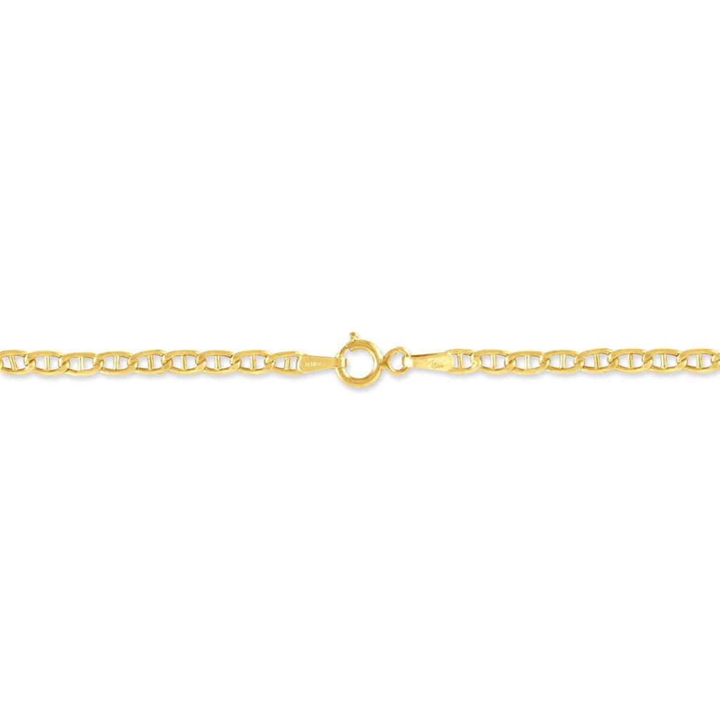 Bracelet Celio Maille Marine Ovale Or Jaune - Bracelets chaîne Femme | Histoire d'Or