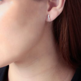 Boucles D'oreilles Pendantes Dahina Or Jaune Oxyde De Zirconium - Boucles d'oreilles pendantes Femme | Histoire d'Or