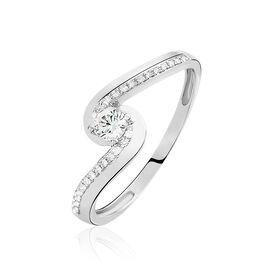 Bague Solitaire Sitan Or Blanc Diamant - Bagues solitaires Femme | Histoire d'Or