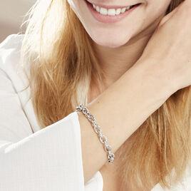 Bracelet Acelia Argent Blanc - Bijoux Femme | Histoire d'Or
