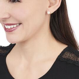 Boucles D'oreilles Puces Akoya Or Jaune Perle De Culture D'akoya - Clous d'oreilles Femme | Histoire d'Or