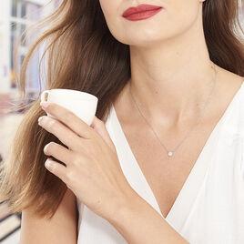 Collier Minna Argent Blanc Oxyde De Zirconium - Colliers fantaisie Femme | Histoire d'Or
