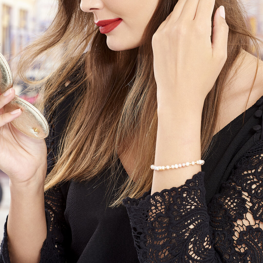 Bracelet Eilis Or Jaune Perle De Culture - Bijoux Femme   Histoire d'Or