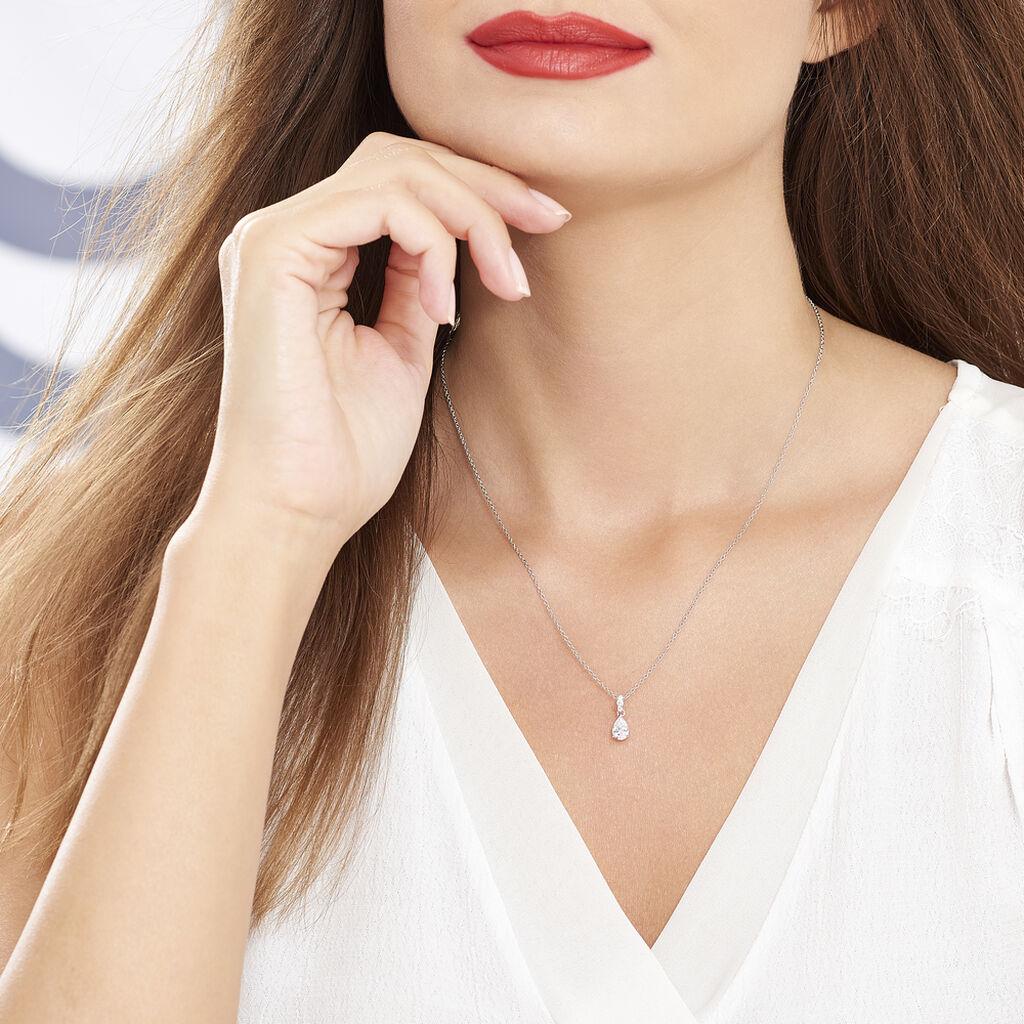 Collier Marie-helena Argent Blanc Oxyde De Zirconium - Colliers fantaisie Femme   Histoire d'Or