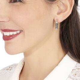 Boucles D'oreilles Pendantes Amata Argent Blanc Oxyde De Zirconium - Boucles d'oreilles fantaisie Femme | Histoire d'Or