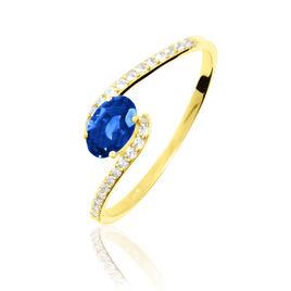 Bague Loriane Or Jaune Saphir Et Diamant - Bagues avec pierre Femme | Histoire d'Or