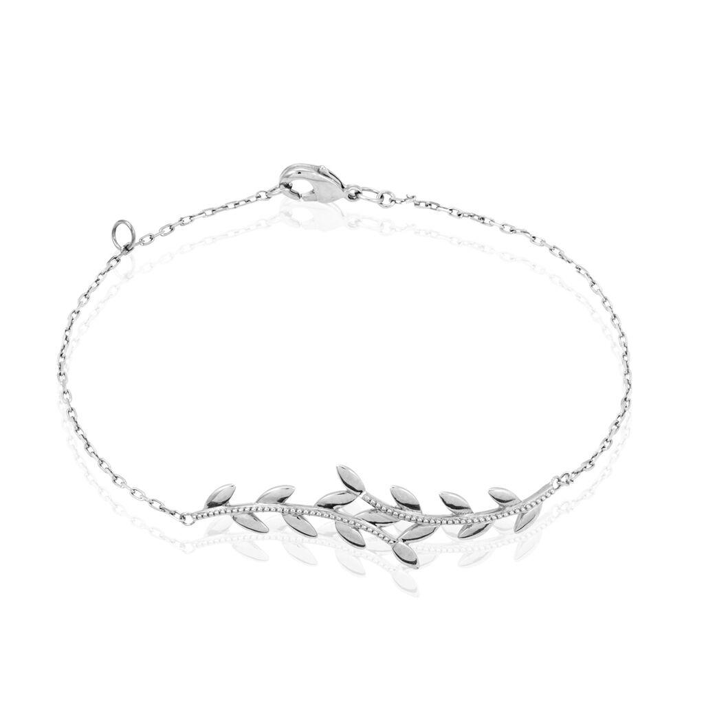 Bracelet Folia Argent Blanc - Bracelets Plume Femme   Histoire d'Or