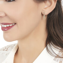 Boucles D'oreilles Pendantes Bartolomea Feuille Or Jaune - Boucles d'Oreilles Plume Femme | Histoire d'Or