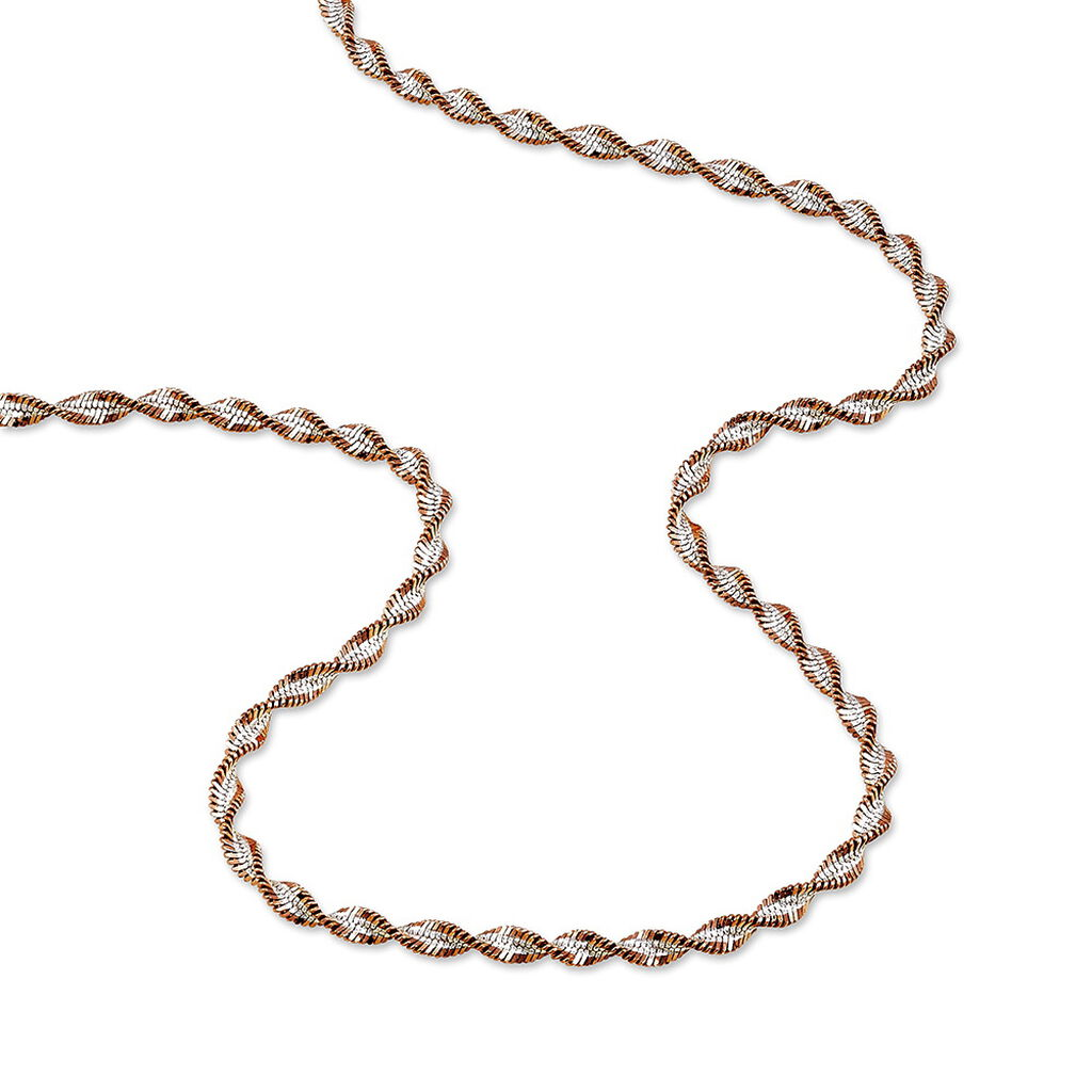 Collier Abie Torsade Argent Bicolore - Chaines Femme   Histoire d'Or