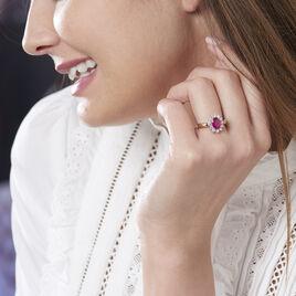 Bague Vladimir Or Jaune Rubis Et Diamant - Bagues solitaires Femme   Histoire d'Or
