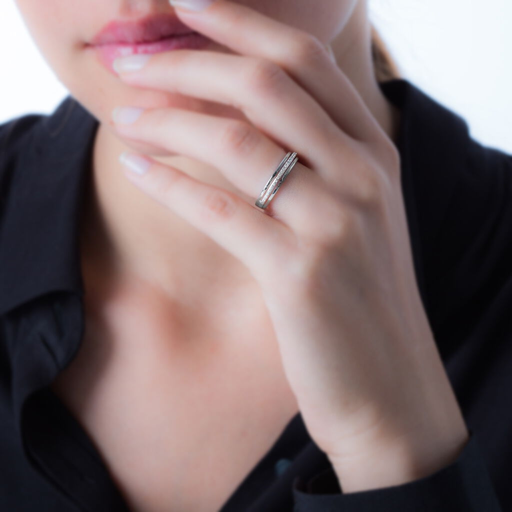 Bague Morrigan Or Blanc Oxyde De Zirconium - Bagues avec pierre Femme   Histoire d'Or