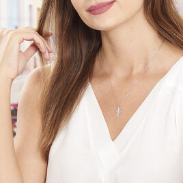Collier Ritej Argent Blanc - Colliers fantaisie Femme   Histoire d'Or