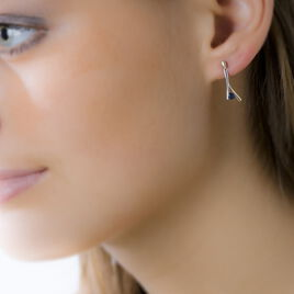 Boucles D'oreilles Pendantes Vayana Or Bicolore Saphir - Boucles d'oreilles pendantes Femme | Histoire d'Or