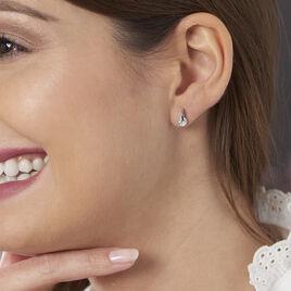 Boucles D'oreilles Pendantes Vera Argent Blanc Oxyde De Zirconium - Boucles d'oreilles fantaisie Femme   Histoire d'Or