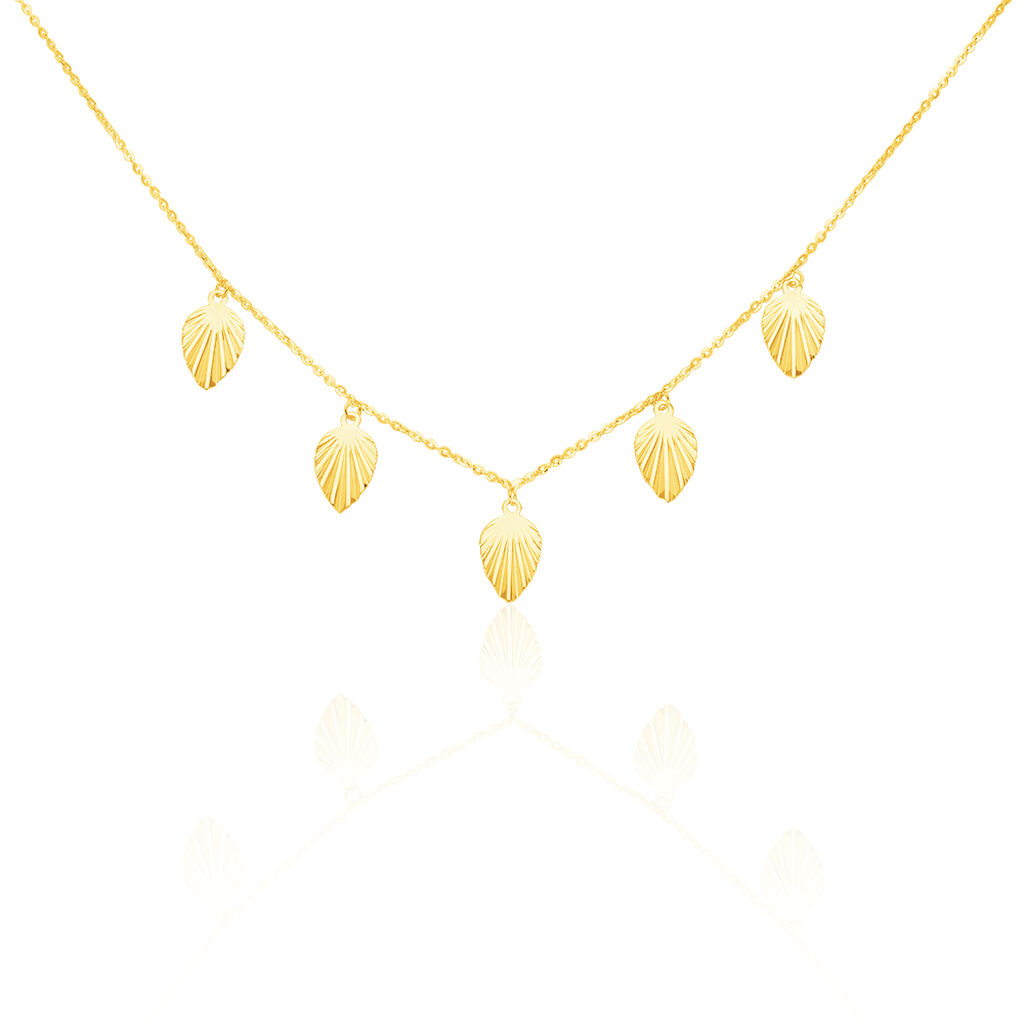 Collier Chrisna Or Jaune - Colliers Plume Femme   Histoire d'Or