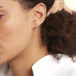 Boucles D'oreilles Puces Ester Or Jaune Diamant - Clous d'oreilles Femme   Histoire d'Or