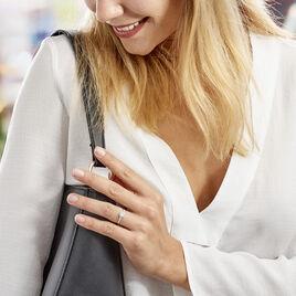 Bague Ivonne Or Blanc Oxyde De Zirconium - Bagues solitaires Femme | Histoire d'Or