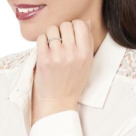 Bague Enorah Argent Blanc Oxyde De Zirconium - Bagues avec pierre Femme   Histoire d'Or