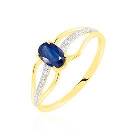 Bague Or Jaune Diamant Et Saphir - Bagues solitaires Femme | Histoire d'Or