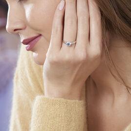 Bague Solitaire Michele Or Bicolore Oxyde De Zirconium - Bagues solitaires Femme | Histoire d'Or