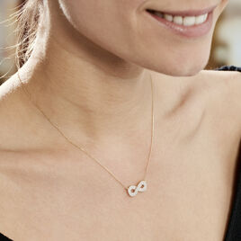 Collier Or Jaune Mariquita Infini Oxydes De Zirconium - Colliers Infini Femme | Histoire d'Or