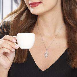 Collier Delicate Argent Blanc Oxyde De Zirconium - Colliers fantaisie Femme | Histoire d'Or