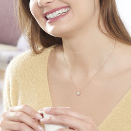 Collier Anne-sophie Or Rose Diamant - Colliers Coeur Femme   Histoire d'Or