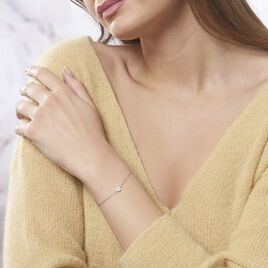 Bracelet Argent Rhodie Auxana Oxyde - Bracelets fantaisie Femme | Histoire d'Or