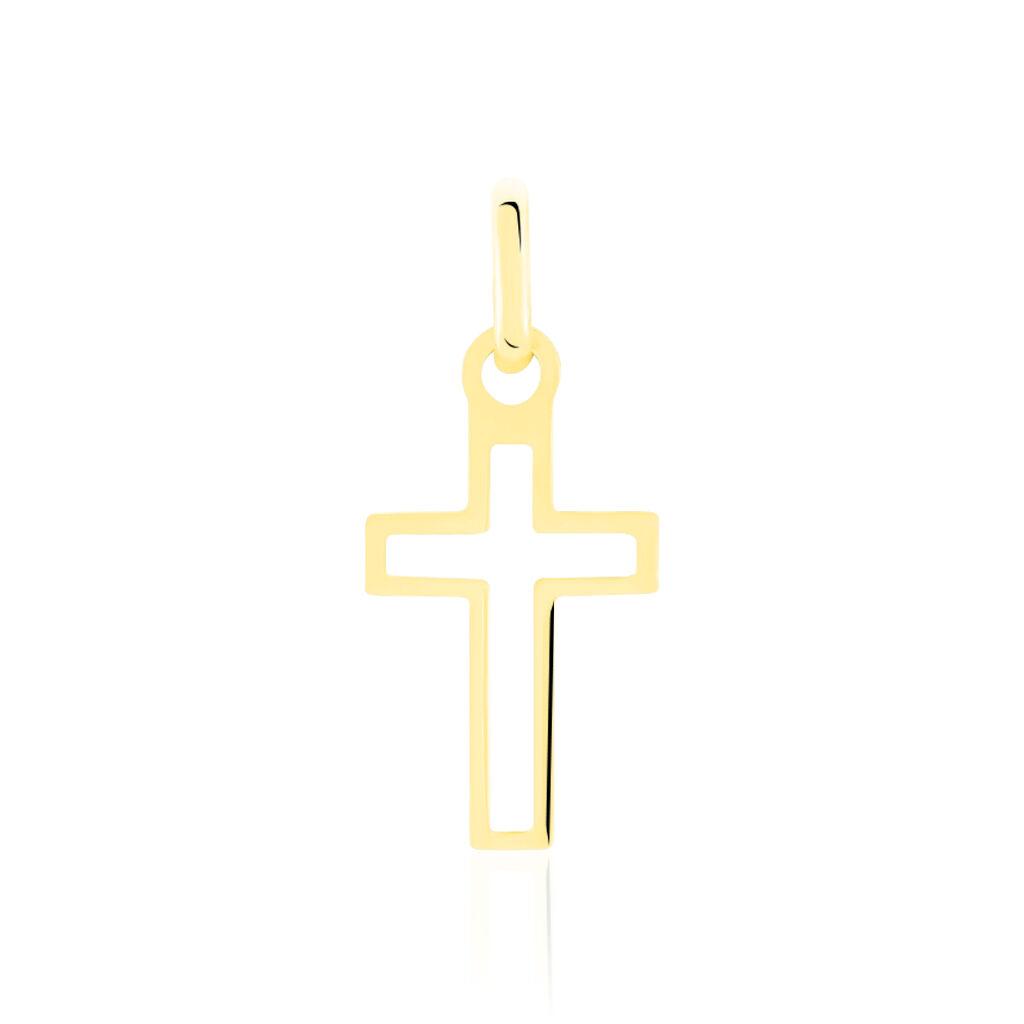 Pendentif Alyssa Croix Or Jaune - Pendentifs Croix Famille | Histoire d'Or