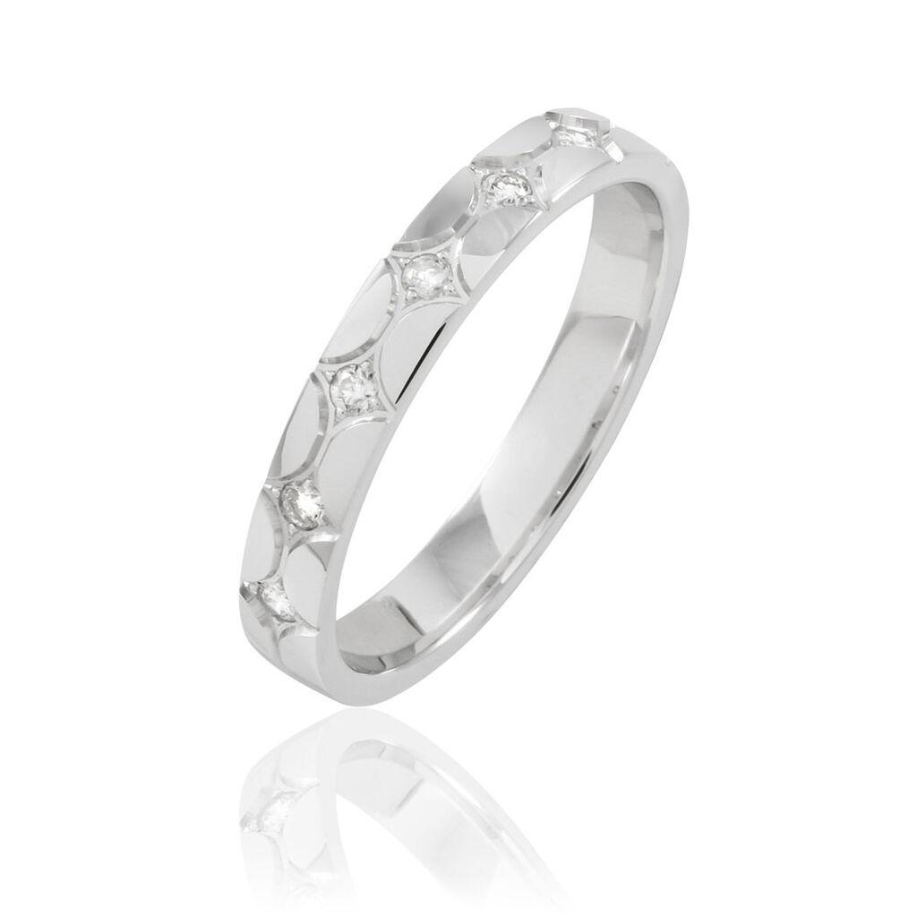 Alliance Lola Or Blanc Diamant - Alliances Femme | Histoire d'Or