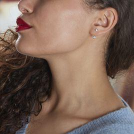 Bijoux D'oreilles Abha Argent Blanc Oxyde De Zirconium - Boucles d'oreilles fantaisie Femme | Histoire d'Or