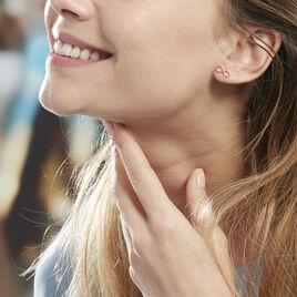 Boucles D'oreilles Argent Rose Castilla - Boucles d'Oreilles Infini Femme   Histoire d'Or