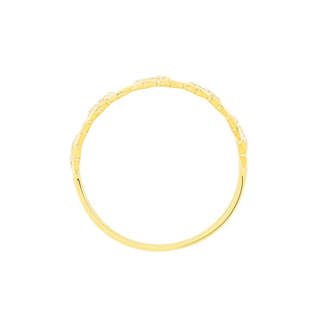 Bague Albanne Or Jaune Oxyde De Zirconium - Bagues avec pierre Femme | Histoire d'Or