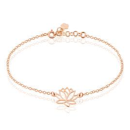 Bracelet Rosita Argent Rose Fleur Lotus - Bracelets fantaisie Femme | Histoire d'Or