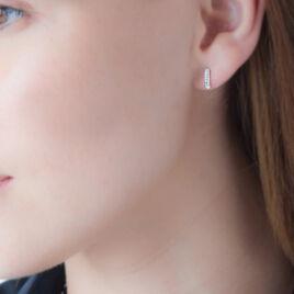 Boucles D'oreilles Puces Youssa Barrettes Or Jaune Strass - Clous d'oreilles Femme | Histoire d'Or