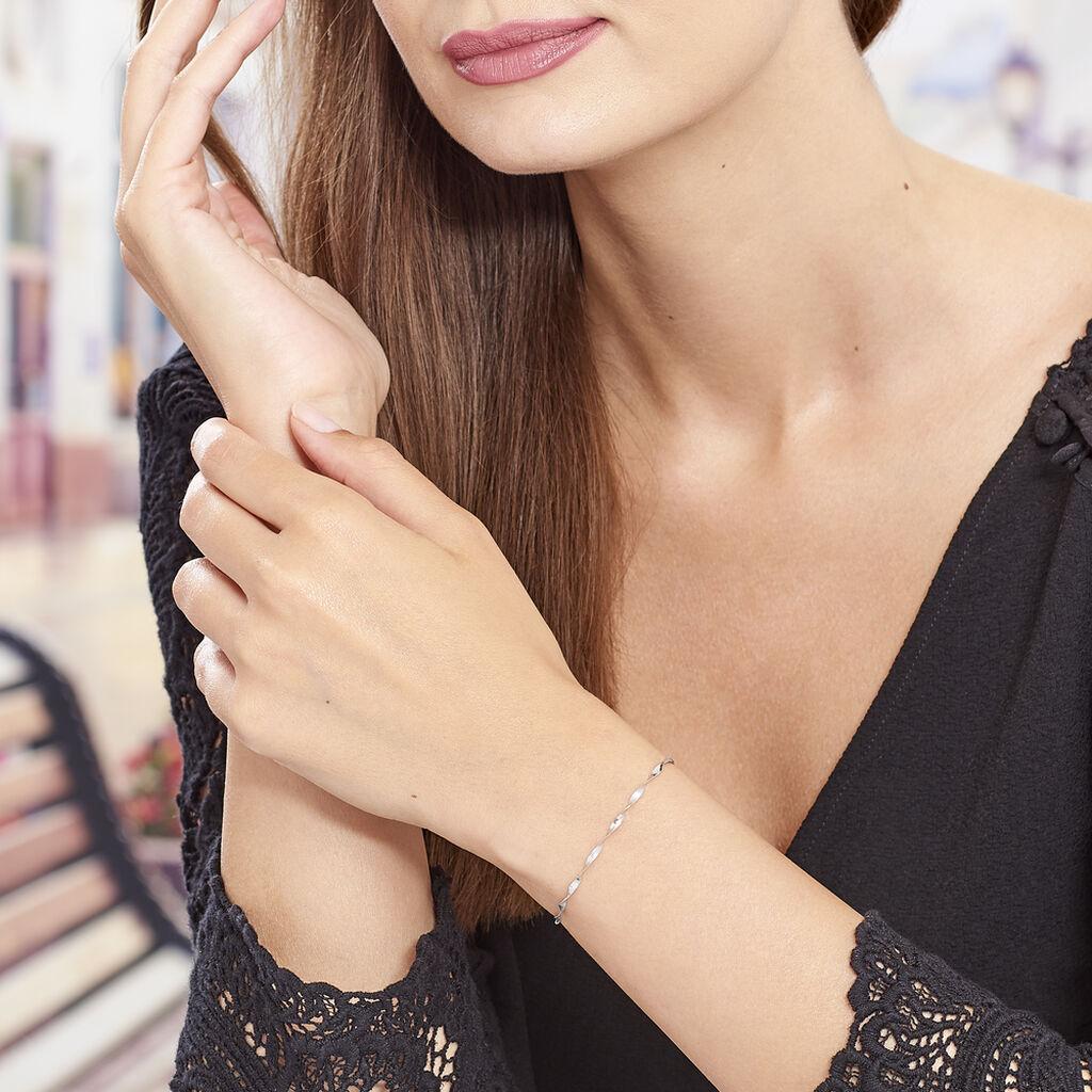 Bracelet Izar Torsadee Or Blanc - Bijoux Femme | Histoire d'Or