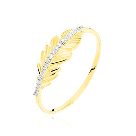 Bague Paola Or Jaune Diamant - Bagues Plume Femme | Histoire d'Or
