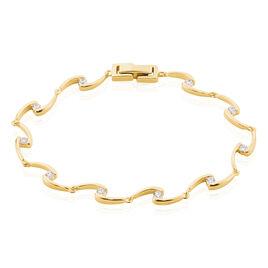 Bracelet Ayda Plaque Or Jaune Oxyde De Zirconium - Bijoux Femme | Histoire d'Or